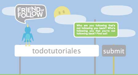 FriendOrFollow, herramienta para Twitter