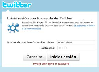 Verificar con Twitter