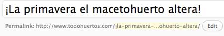 Título en WordPress