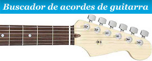 Buscador de acordes guitarra