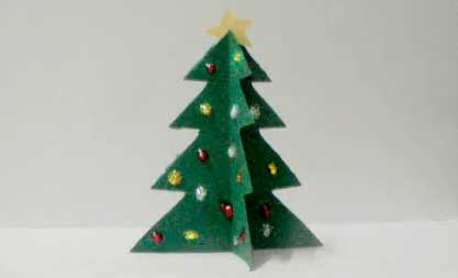 C mo hacer un rbol de navidad en 5 minutos todotutoriales - Arbol navidad cartulina ...