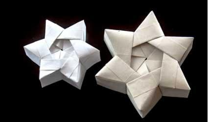 Papiroflexia c mo hacer cajitas de regalo con forma de - Origami de una estrella ...